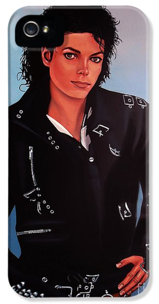 Bad iPhone 5 Cases - Michael Jackson Bad iPhone 5 Case by Paul  Meijering