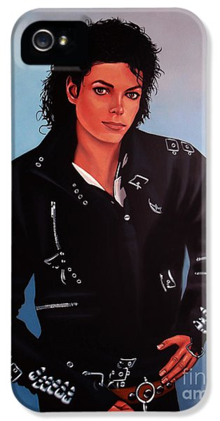 Death iPhone 5 Cases - Michael Jackson Bad iPhone 5 Case by Paul  Meijering