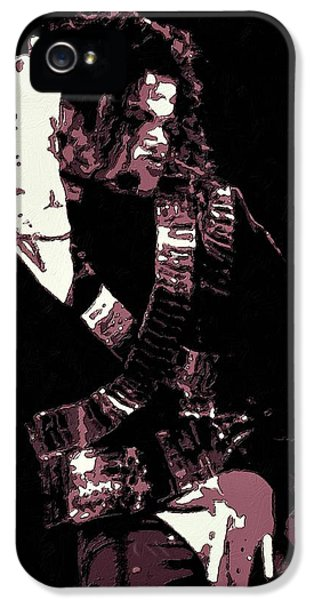 Grunge Style iPhone 5 Cases - Michael Jackson Concert Poster iPhone 5 Case by Florian Rodarte