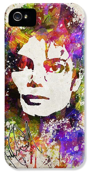 Michael Jackson iPhone 5 Cases - Michael Jackson in Color iPhone 5 Case by Aged Pixel