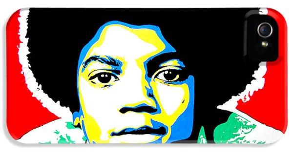 Jackson 5 iPhone 5 Cases - Michael Jackson iPhone 5 Case by Nancy Mergybrower
