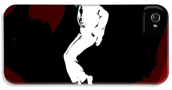 Mj iPhone 5 Cases - Michael Jackson Red Silhouette iPhone 5 Case by Dan Sproul
