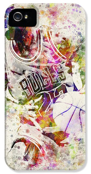Bull iPhone 5 Cases - Michael Jordan iPhone 5 Case by Aged Pixel