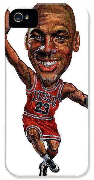 Chicago Bulls iPhone 5 Cases - Michael Jordan iPhone 5 Case by Art