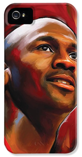 Nba iPhone 5 Cases - Michael Jordan Artwork 2 iPhone 5 Case by Sheraz A