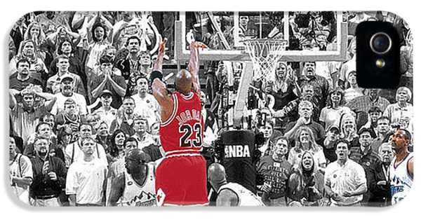 Michael iPhone 5 Cases - Michael Jordan Buzzer Beater iPhone 5 Case by Brian Reaves