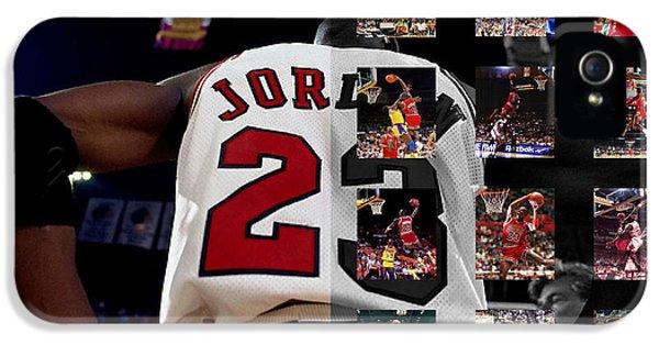 Chicago Bulls iPhone 5 Cases - Michael Jordan iPhone 5 Case by Joe Hamilton