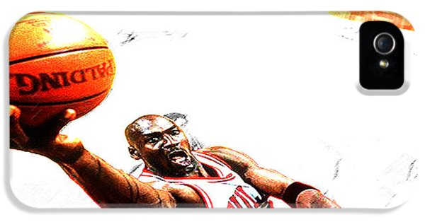 Pippen iPhone 5 Cases - Michael Jordan Lift Off iPhone 5 Case by Brian Reaves