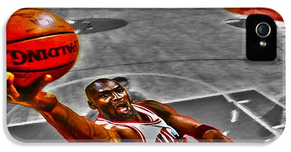 Pippen iPhone 5 Cases - Michael Jordan Lift Off II iPhone 5 Case by Brian Reaves