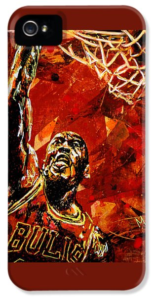 B iPhone 5 Cases - Michael Jordan iPhone 5 Case by Maria Arango