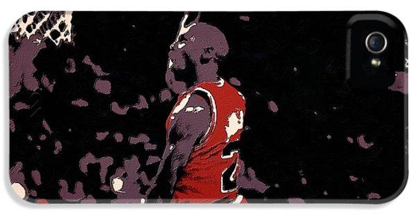 Air Jordan iPhone 5 Cases - Michael Jordan Poster Art Dunk iPhone 5 Case by Florian Rodarte