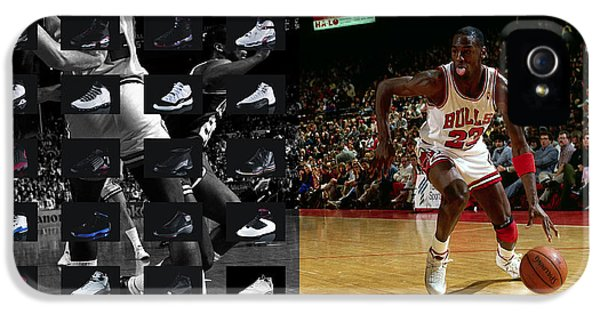 Jordan iPhone 5 Cases - Michael Jordan Shoes iPhone 5 Case by Joe Hamilton