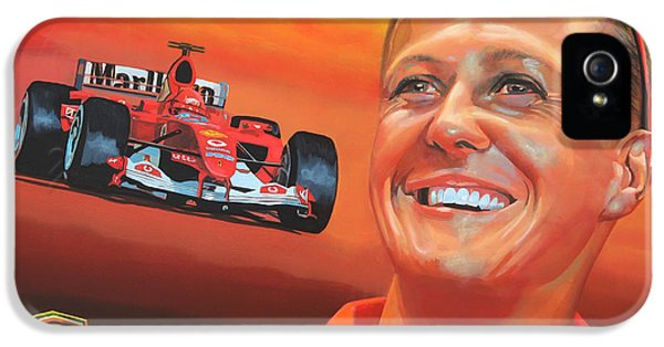 Circuits iPhone 5 Cases - Michael Schumacher 2 iPhone 5 Case by Paul  Meijering