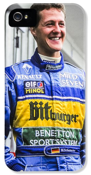 Schumi iPhone 5 Cases - Michael Schumacher iPhone 5 Case by Jose Bispo