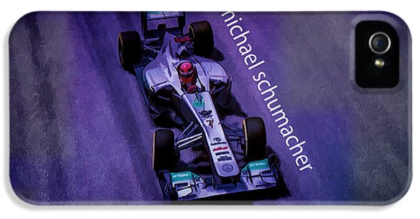 Michael Schumacher iPhone 5 Cases - Michael Schumacher iPhone 5 Case by Marvin Spates