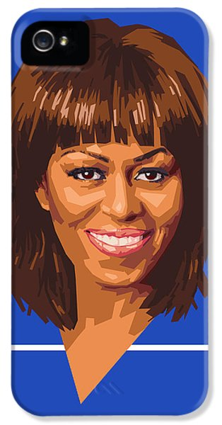 First Lady iPhone 5 Cases - Michelle iPhone 5 Case by Douglas Simonson