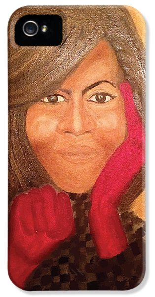 Michelle Obama iPhone 5 Cases - Michelle Obama iPhone 5 Case by Ginnie McKnight