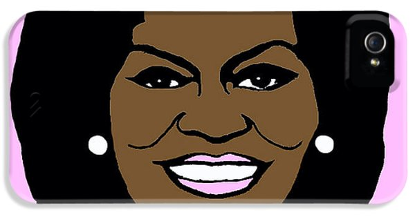 Michelle Obama iPhone 5 Cases - Michelle Obama iPhone 5 Case by Jost Houk