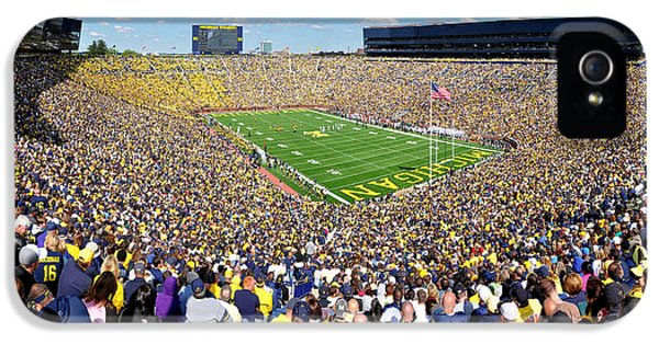 Michigan Stadium - Wolverines IPhone 5 / 5s Case by Georgia Fowler