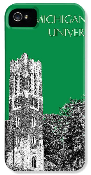 Michigan State University - Forest Green IPhone 5 / 5s Case by DB Artist