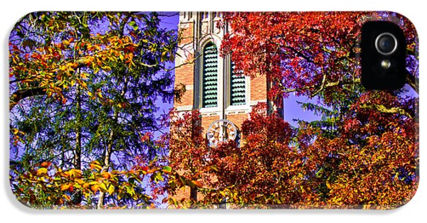 Michigan State University Beaumont Tower IPhone 5 / 5s Case by John McGraw
