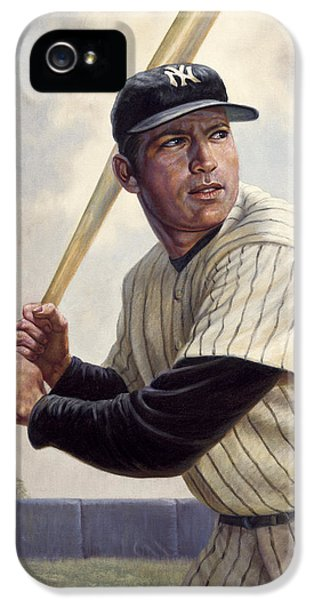 Mickey Mantle IPhone 5 / 5s Case by Gregory Perillo