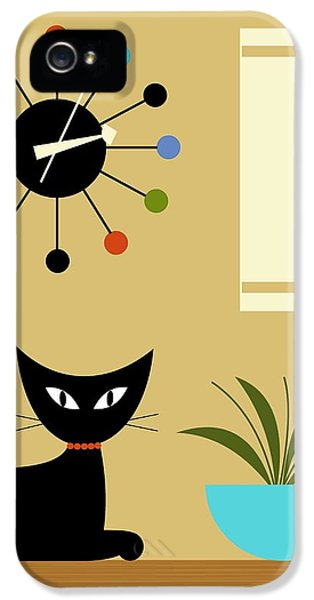 Mid Century Ball Clock 2 IPhone 5 / 5s Case by Donna Mibus