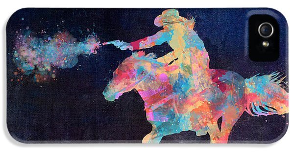 Modern Western iPhone 5 Cases - Midnight Cowgirls Ride Heaven Help the Fool Who Did Her Wrong iPhone 5 Case by Nikki Marie Smith