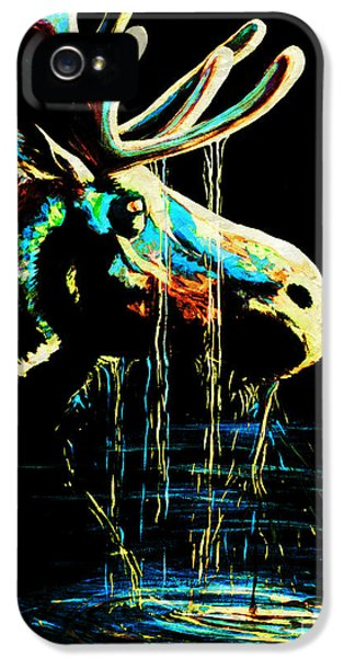 Epic iPhone 5 Cases - Midnight Moose Drool  iPhone 5 Case by Teshia Art