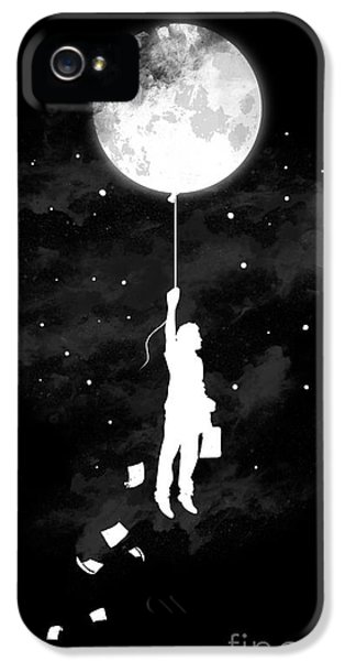 Balloon iPhone 5 Cases - Midnight traveler iPhone 5 Case by Budi Kwan