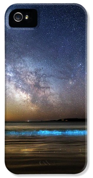 Milky Way Over Bioluminescent Plankton IPhone 5 / 5s Case by Laurent Laveder
