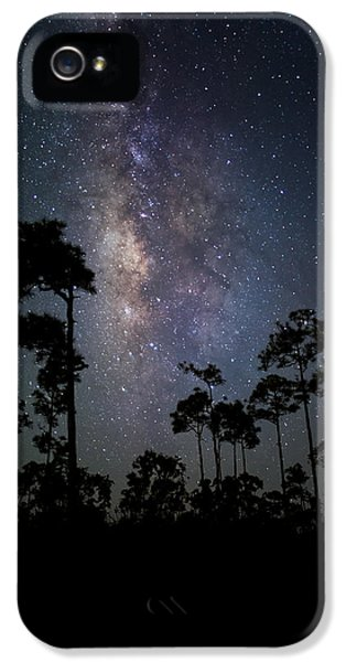 Outdoors iPhone 5 Cases - Milky Way Over the Everglades iPhone 5 Case by Andres Leon
