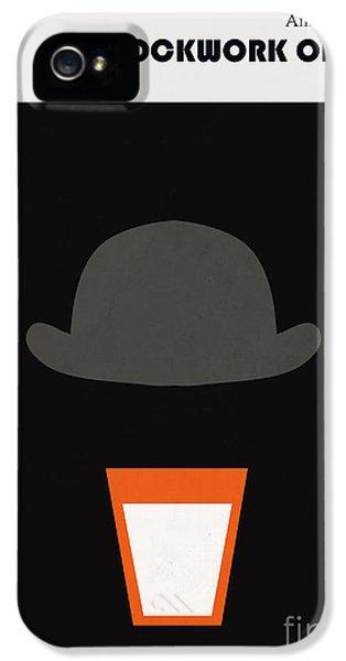 Minimalist iPhone 5 Cases - Minimalist book cover Anthony Burgess Clockwork orange iPhone 5 Case by Budi Satria Kwan