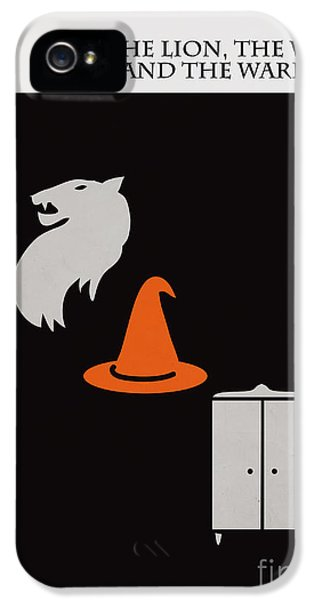 Witch iPhone 5 Cases - Minimalist book cover the lion the witch and the wardrobe iPhone 5 Case by Budi Kwan