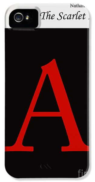 Minimalist iPhone 5 Cases - Minimalist book cover the scarlet letter iPhone 5 Case by Budi Satria Kwan