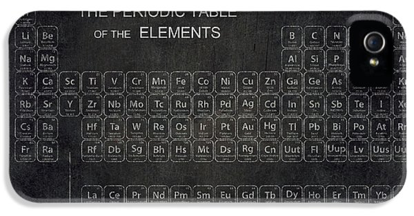 Laboratory iPhone 5 Cases - Minimalist Periodic Table iPhone 5 Case by Daniel Hagerman