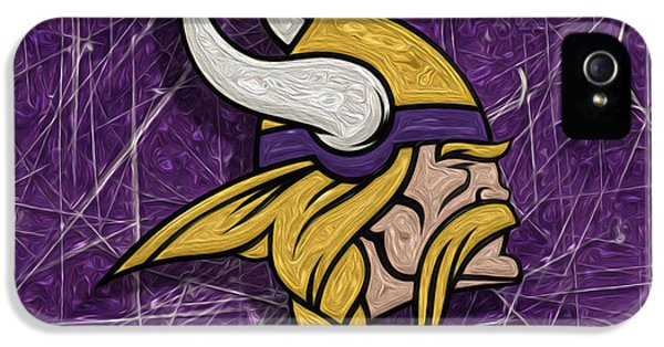 Central Division iPhone 5 Cases - Minnesota Vikings iPhone 5 Case by Jack Zulli