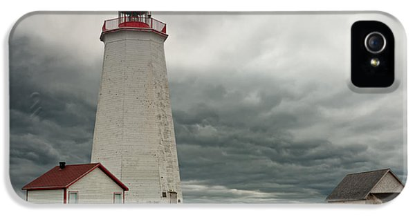 Foghorn iPhone 5 Cases - Miscou Lighthouse iPhone 5 Case by Ulrich Schade