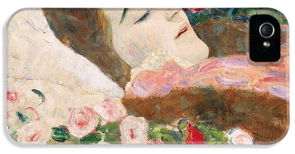 Ill iPhone 5 Cases - Miss Ria Munk on her Deathbed iPhone 5 Case by Gustav Klimt