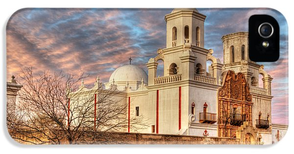 Bob Christopher iPhone 5 Cases - Mission San Xavier Del Bac 2 iPhone 5 Case by Bob Christopher