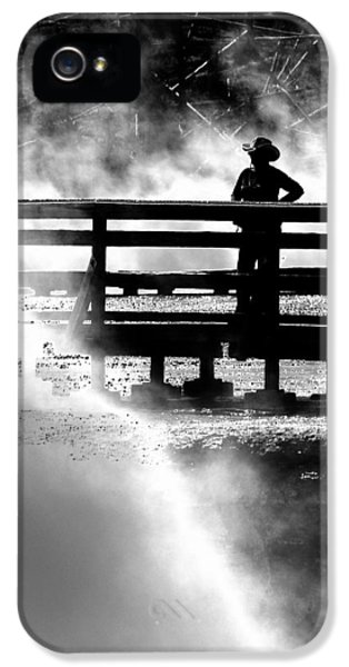 Sillouette iPhone 5 Cases - Misty Cowgirl iPhone 5 Case by Ron White