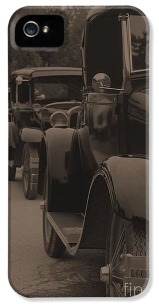 1929 Roadster iPhone 5 Cases - Model-A Parade iPhone 5 Case by Joseph Marquis