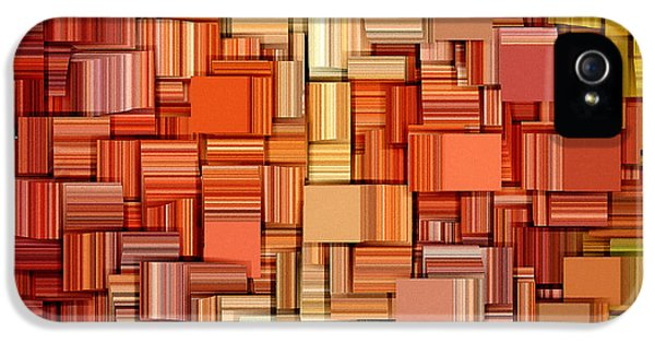 Tangerine iPhone 5 Cases - Modern Abstract VIII iPhone 5 Case by Lourry Legarde