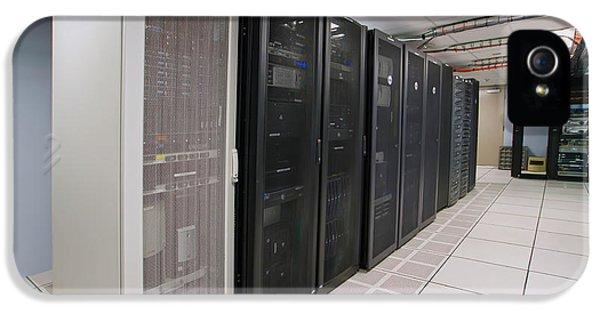 Firewall iPhone 5 Cases - Modern interior of server room in datacenter iPhone 5 Case by Alexandr Grichenko