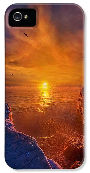 Lake Michigan iPhone 5 Cases - Moments of Discovery iPhone 5 Case by Phil Koch