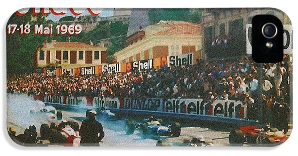 Formula One iPhone 5 Cases - Monaco 1969 iPhone 5 Case by Nomad Art And  Design