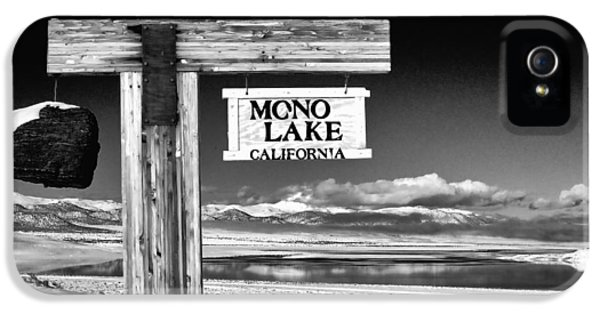Black Snow iPhone 5 Cases - Mono Lake Vista iPhone 5 Case by Cat Connor