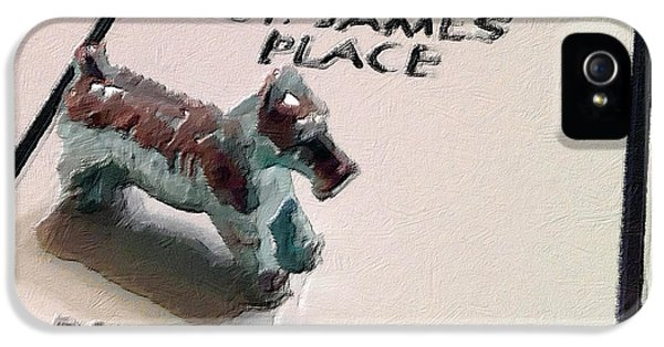 Monopoly iPhone 5 Cases - Monopoly Board Custom Painting St James Place iPhone 5 Case by Tony Rubino