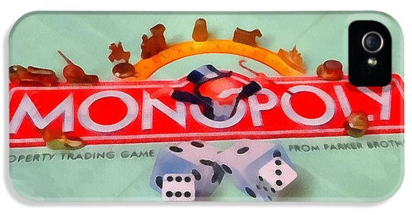 Monopoly iPhone 5 Cases - Monopoly Board Game iPhone 5 Case by Dan Sproul