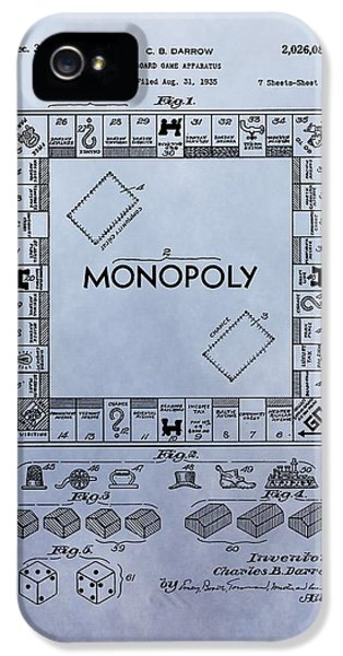 Monopoly iPhone 5 Cases - Monopoly Board Game Patent iPhone 5 Case by Dan Sproul